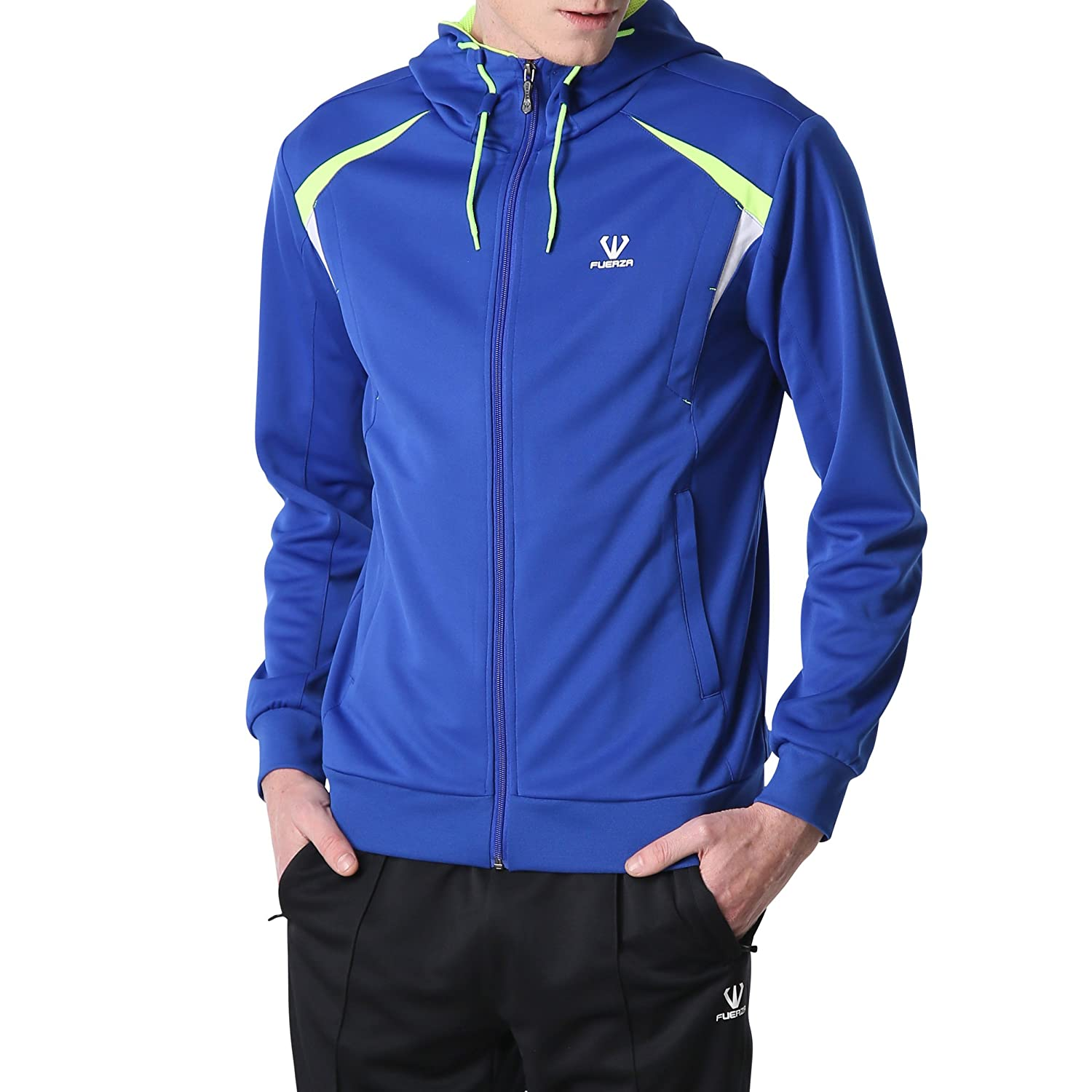 Fuerza Mens Premium Material Knit Hooded Track Jacket & Pants Tracksuit Fuerza North America