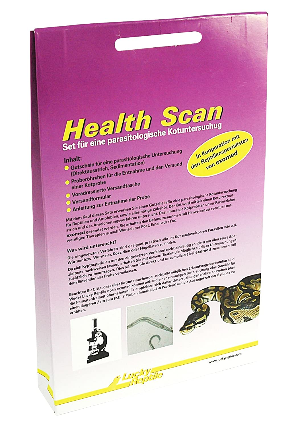 Lucky Reptile HES-1 Health Scan, Parasitentest VLH005
