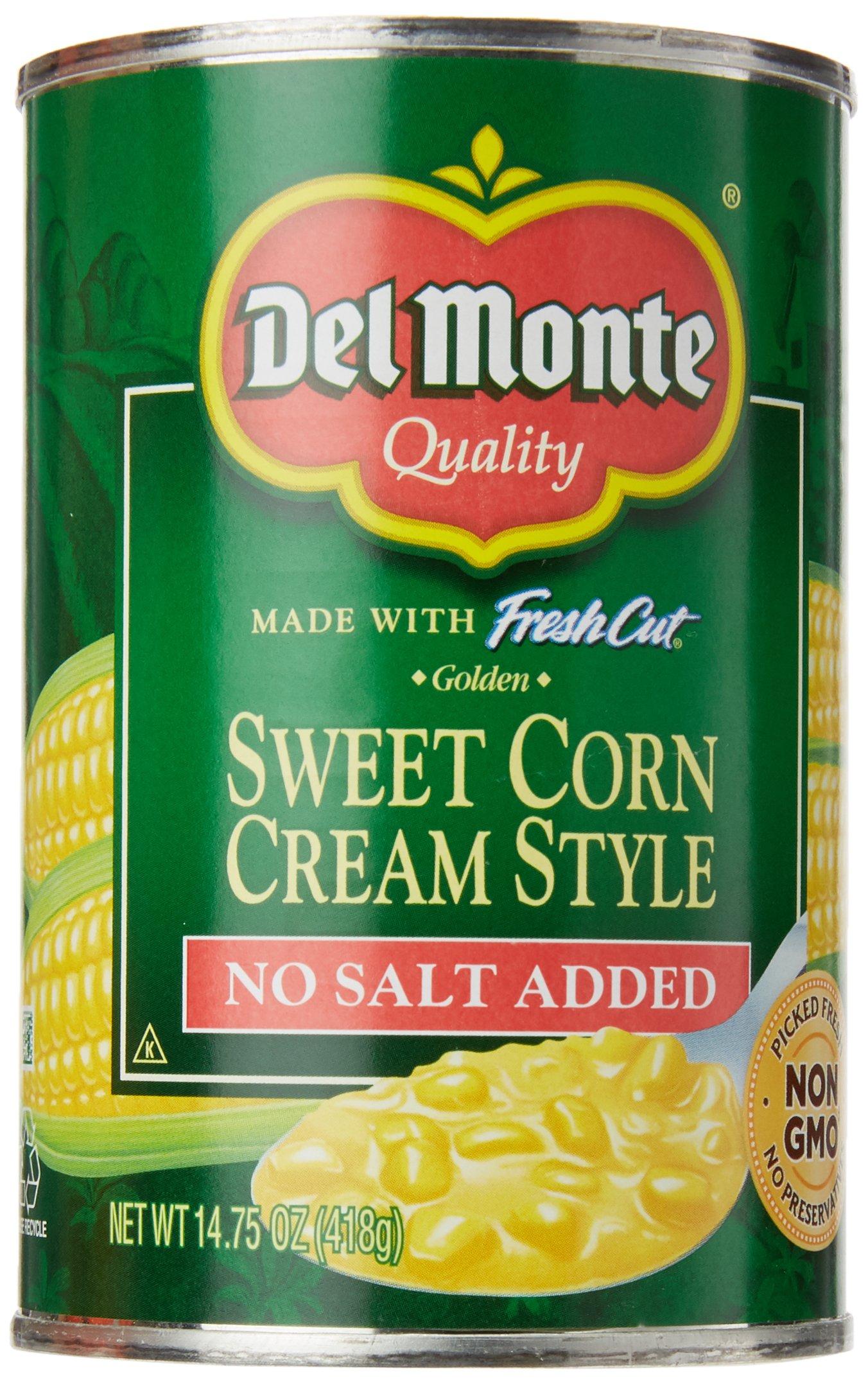 Del Monte Cream Style Sweet Corn No Salt Added, 14.75 oz