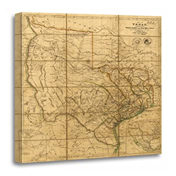 Old Map Of Texas.Torass Canvas Wall Art Print Old Map Of Texas By John Arrowsmith Vintage Artwork For Home Decor 20 X 20