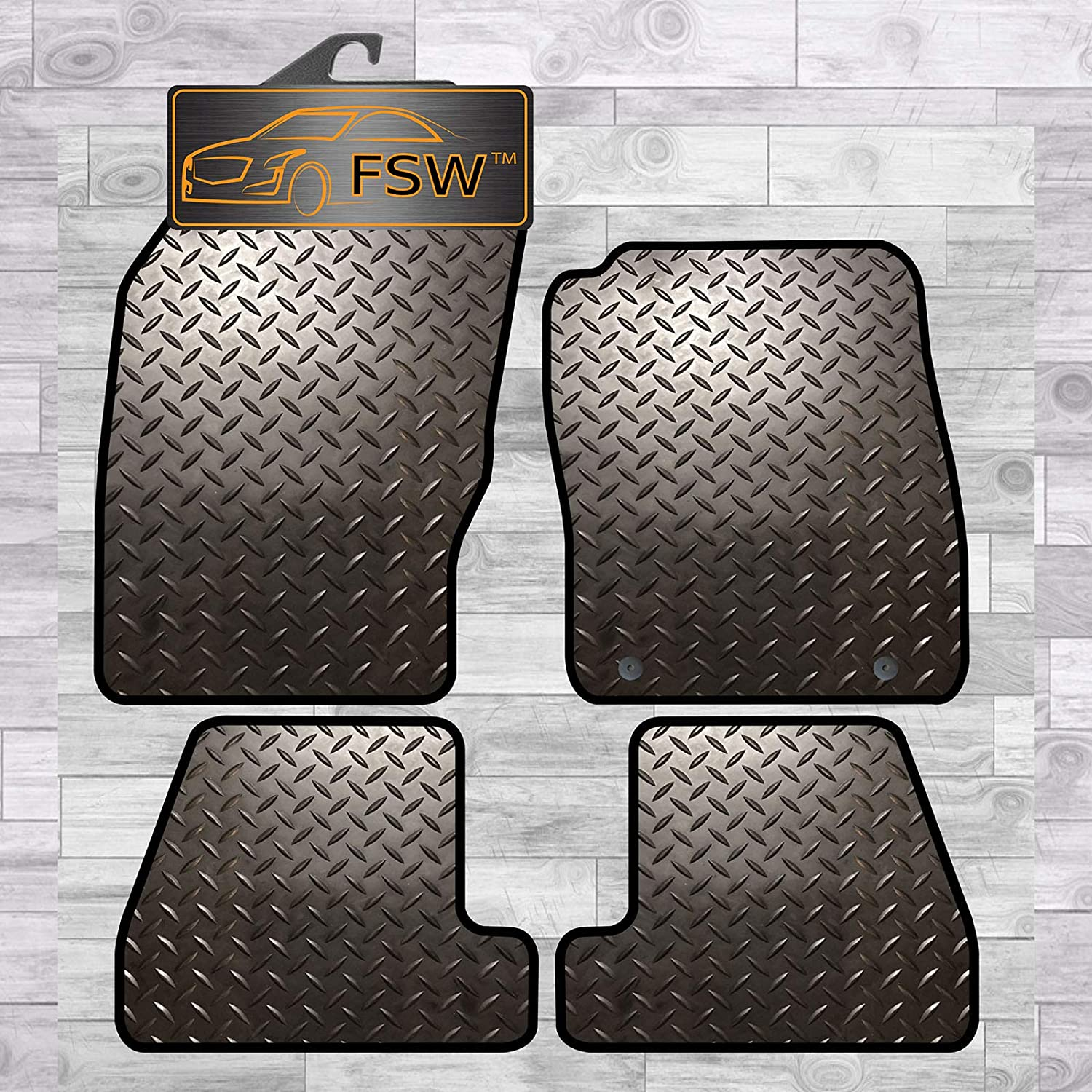 Focus 2011-2015 Fully Tailored 3MM Rubber Heavy Duty Car Floor Mats FSW