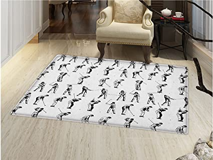 Smallbeefly Golf Door Mats For Inside Golf Swing Shown In Fourteen Stages  Sports Hobby Themed Sketch