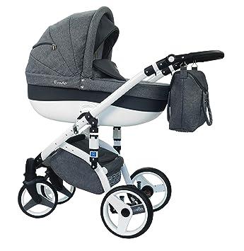 wiejar Evado T + Eco 16 - Cochecito de bebé, sillita cochecito Version Promenade sistema 3en1, protección lluvia, mosquitera,: Amazon.es: Bebé