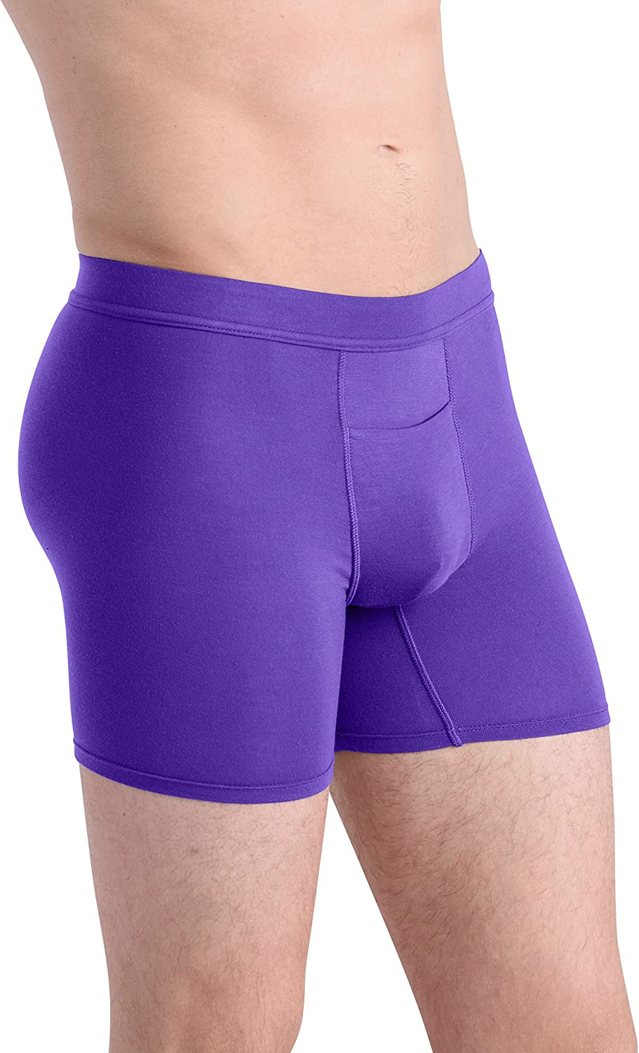 COMFORTABLE CLUB Mens Bliss Modal Microfiber Boxer Briefs Underwear with Fly