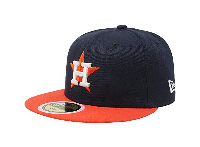 70360374 Kids 5950 Fitted Hat Authentic Collection Astros Road Navy Orange  (6 3 4 1730c2899720