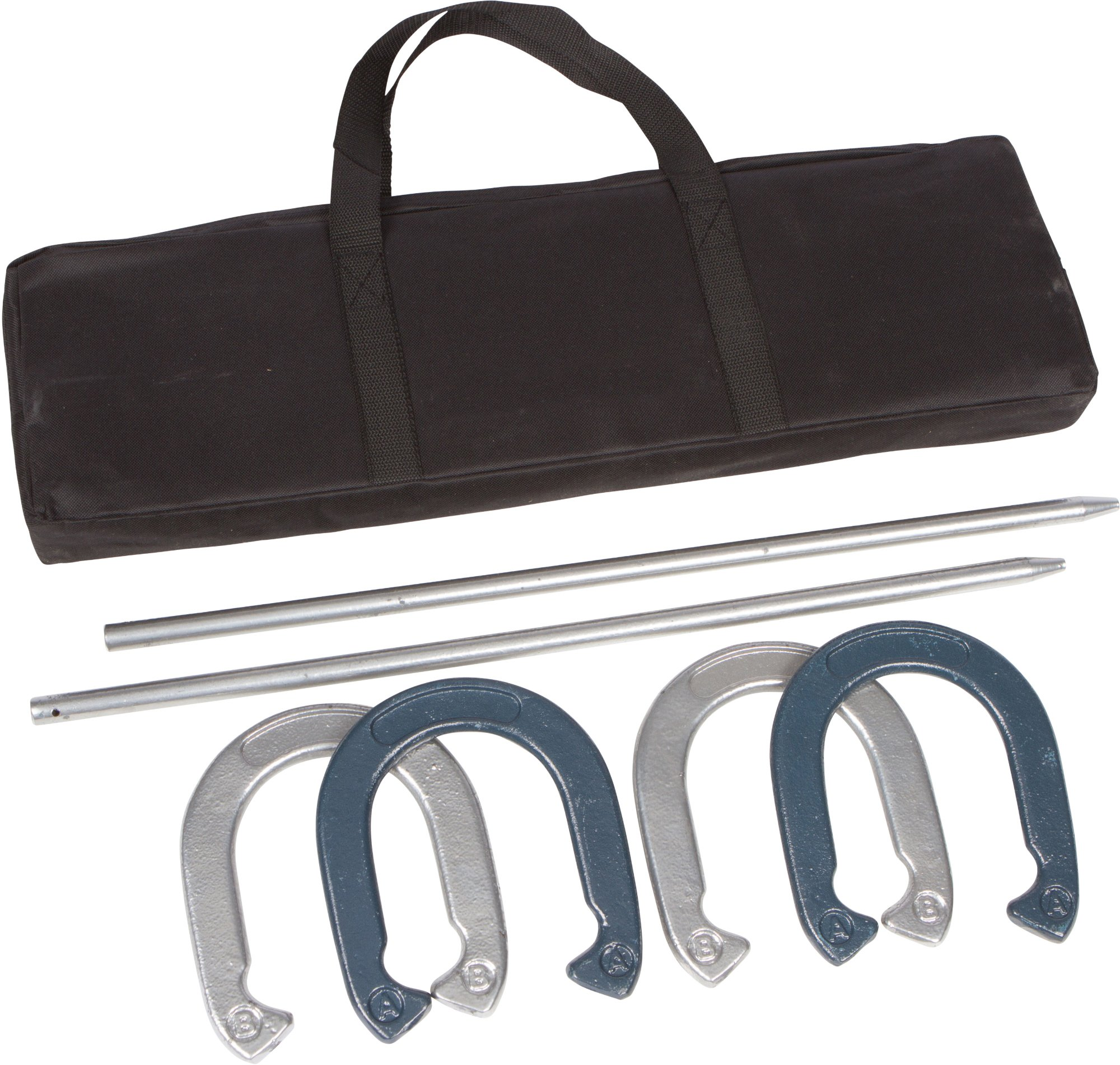 Pro Horseshoe Set - Powder Coated Steel with Carry Case by Trademark Innovations by Trademark Innovations