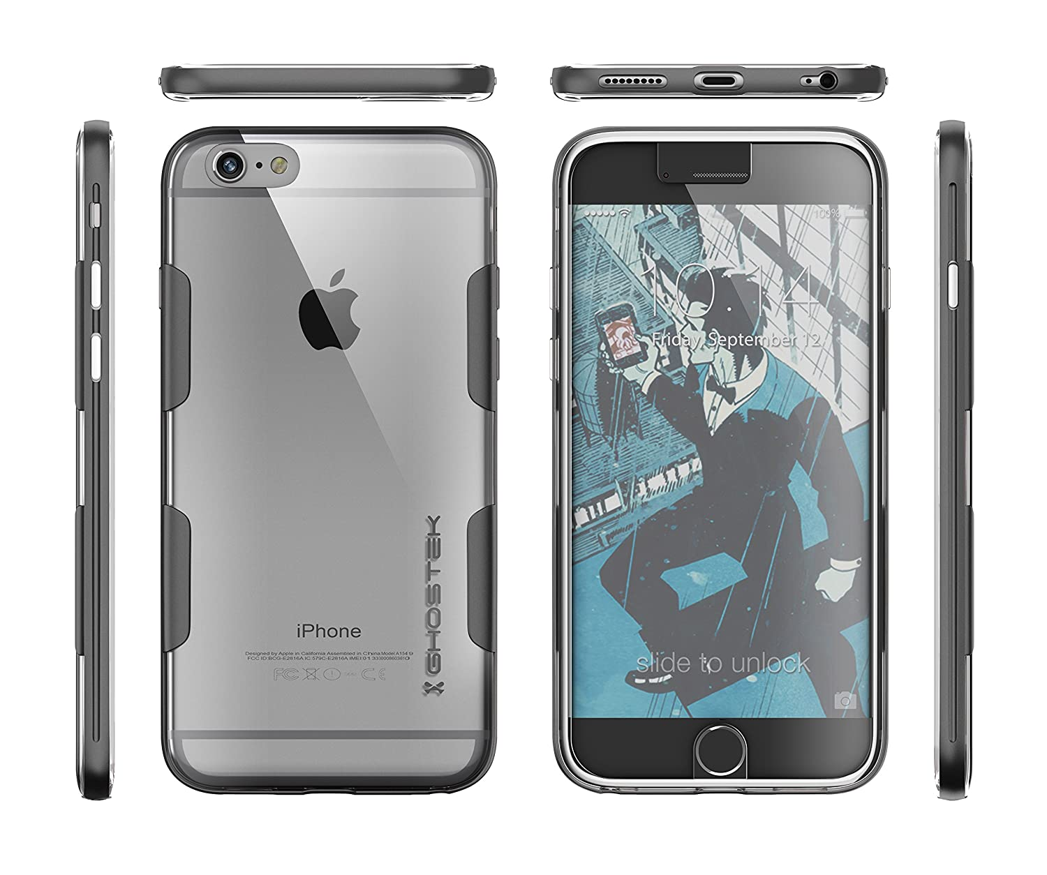 apple iphone 6 space grey. cloak series for apple iphone 6 plus slim protective armor case cover | tempered glass screen protector aluminum frame tpu exchange (space gray): iphone space grey