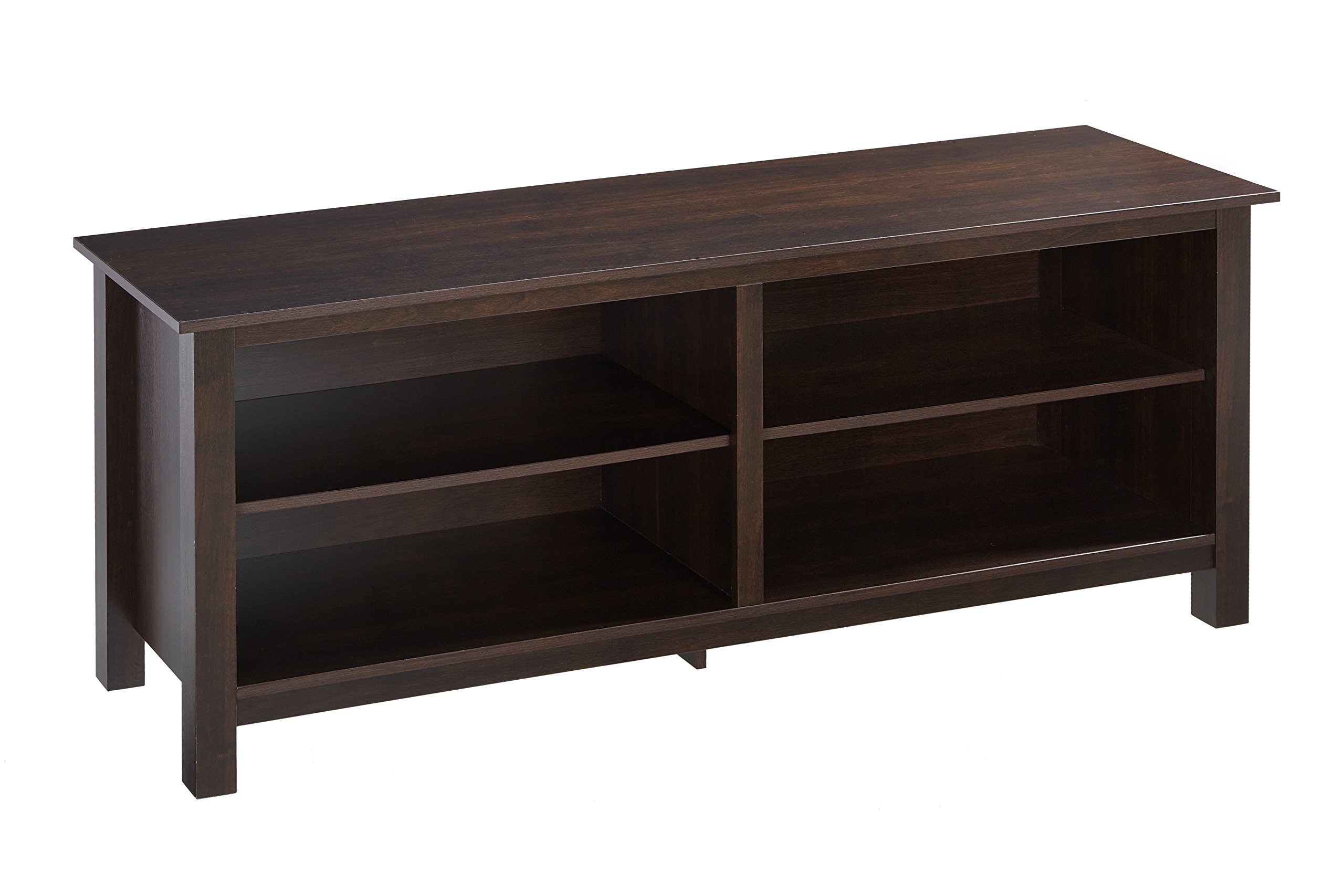 Rockpoint Wood TV Stand Storage Console, 58'', Russet Brown