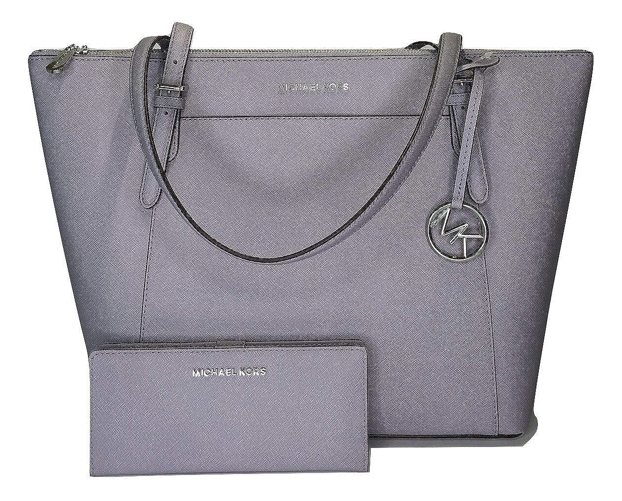 014103241dd8 Michael Kors Michael Michael Kors Ciara Large East West TZ Tote Bundled Jet  Set Travel Slim Bifold Wallet (Lilac): Handbags: Amazon.com
