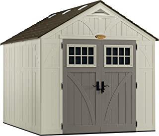 product image for Suncast 8' x 10' Tremont Storage Shed - Outdoor Storage for Backyard Tools and Accessories - All-Weather Resin Material, Transom Windows and Shingle Style Roof