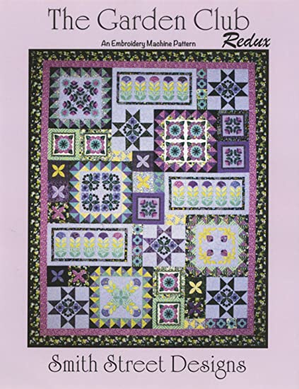 Amazon The Garden Club Applique Quilt Machine Embroidery Cd By