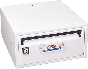 Btv moncayo - Buzon horizontal 9 250mm blanco blanco: Amazon.es: Bricolaje y herramientas