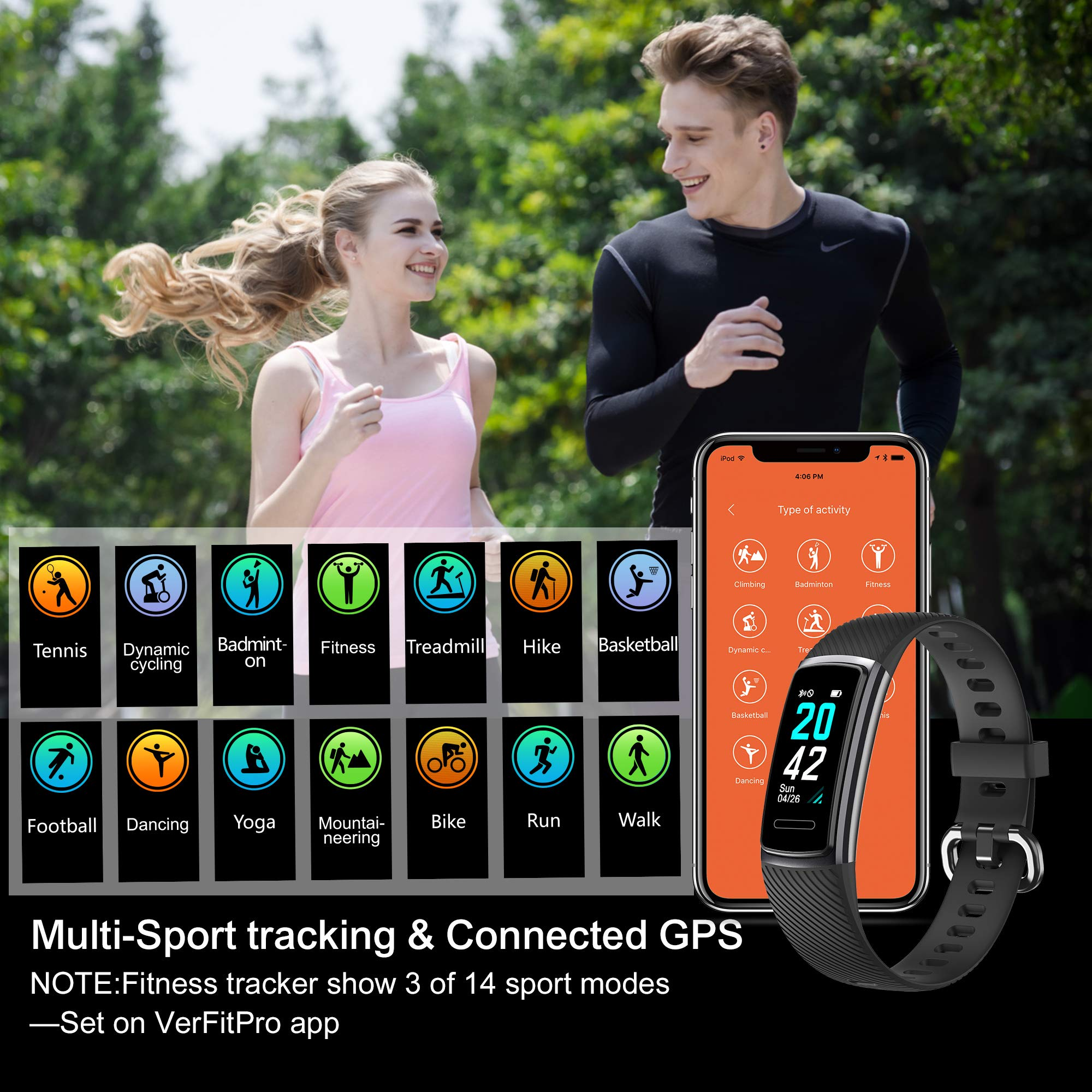 High-End Fitness Trackers HR, Activity Trackers Health ...