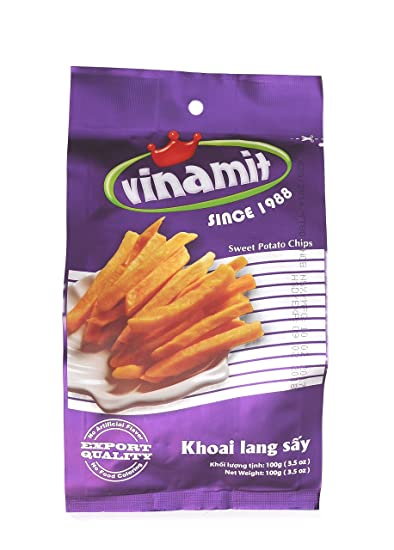 Vinamit Vietnam Sweet Potato Chips - High Quality Food - 100 gram