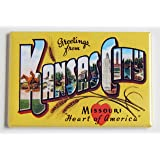 Greetings From Kansas City Missouri Fridge Magnet (2 x 3 inches)