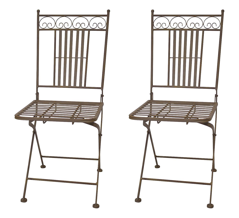 Metall Möbel rost 1 Stück - Stuhl DECOLINE