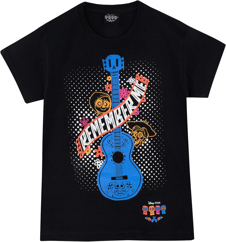 Disney Camiseta de Manga Corta para niños Coco Negro 11-12 Años ...