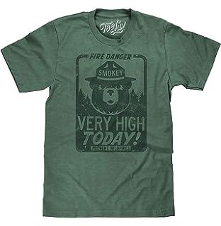8bfc5aad28e0 Tee Luv Smokey Bear Shirt - Fire Danger Very High Today Tri Blend T-Shirt