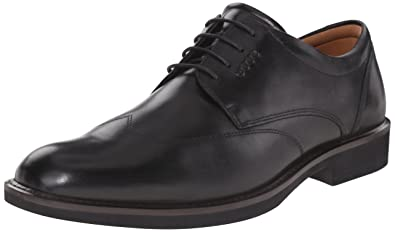 ECCO Men's Biarritz Wingtip Oxford, Black/Black, 46 EU/12-12.5