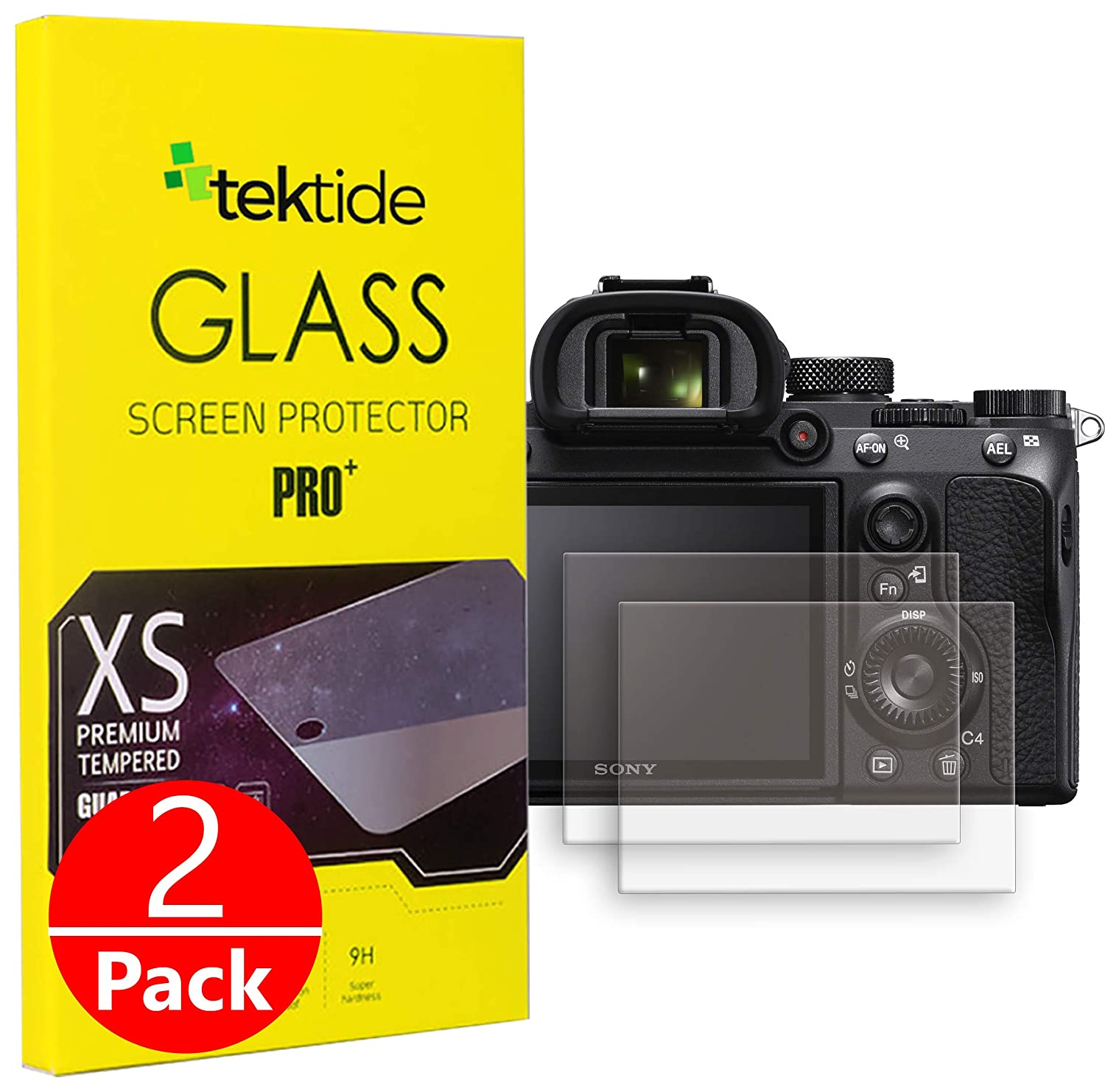 Tektide Screen Protector Compatible for Sony a6500 a6300 a6000 a5100 a5000 2Pack Anti-Scratch Anti-Shatter Easy Cleaning Temperd Glass Protective Cover for Camera LCD//LED Screen