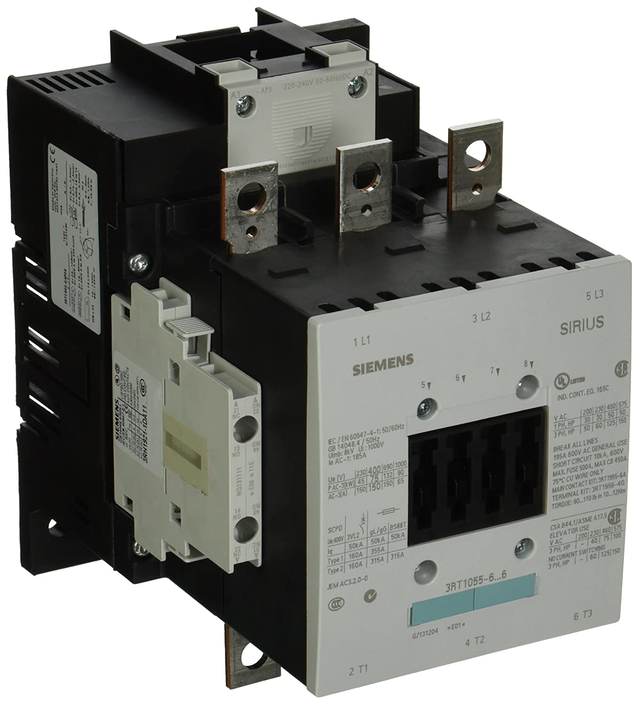 Siemens 3RT10 55-6AP36 Motor Contactor, 3 Poles, S6 Frame