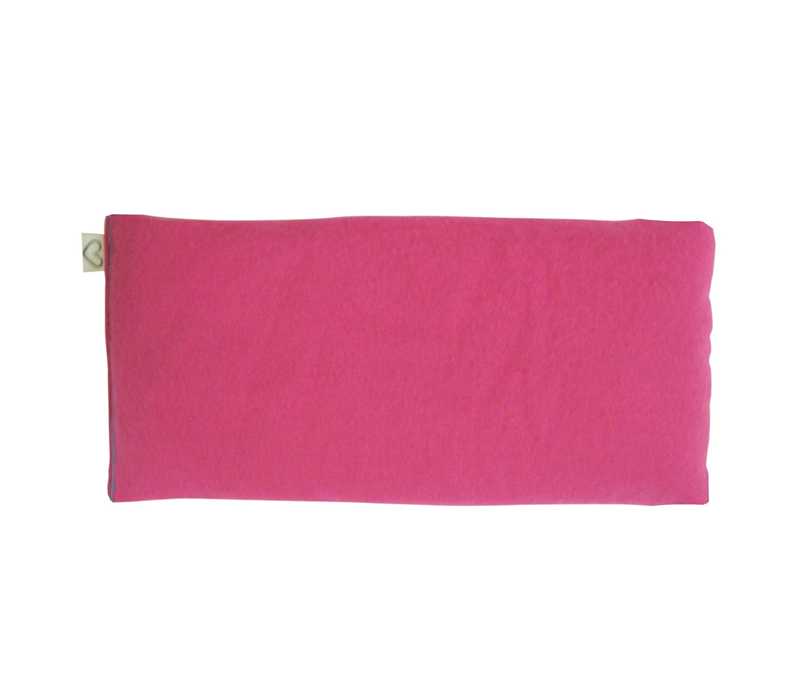 Peacegoods Unscented Organic Flax Seed Eye Pillow - Pack of (6) - Soft Cotton Flannel 4 x 8.5 - Pink Green Purple Gray Fuschia Aqua Turquoise Blue by Peacegoods (Image #4)