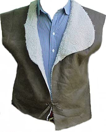 4f145790 StraightLine mens Clint Eastwood Western Cowboy Vest Large Multicoloured.  Roll over image to ...