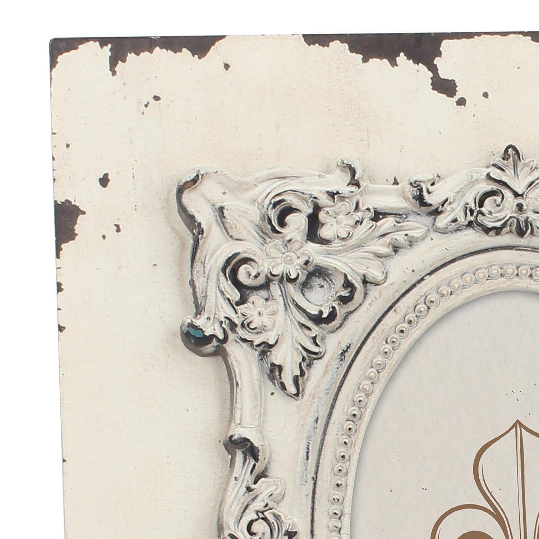 Stonebriar 4 Cottage marco de madera con barroco Detalles, Blanco, 4 Stonebriar x 6 e96d2f