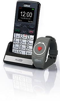 Maxcom MM 715BB - Teléfono móvil con botones grandes, pantalla 4,5 cm (1,8