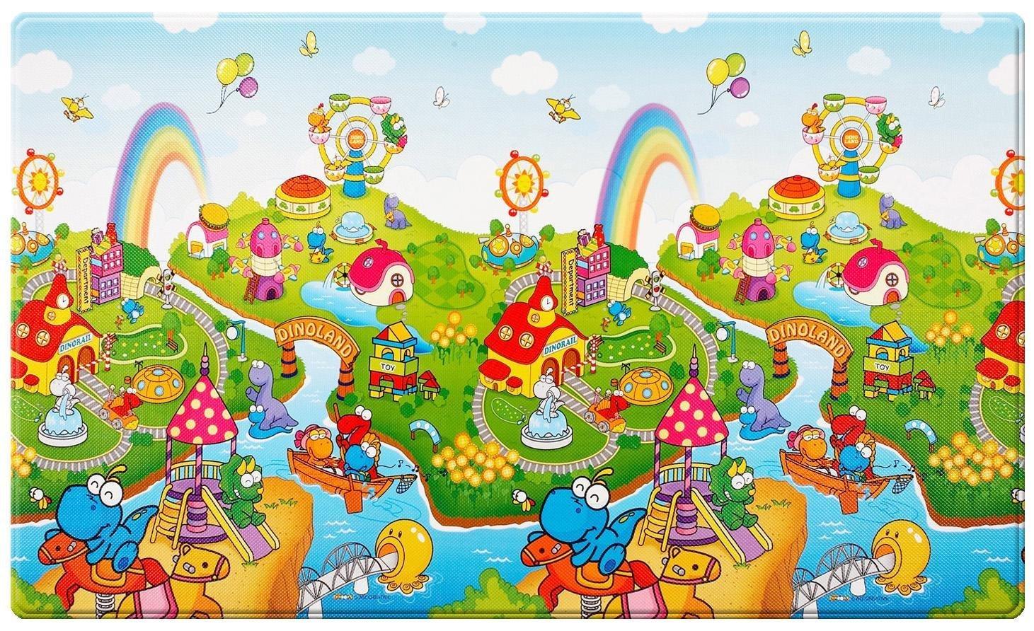 Amazon Com Dwinguler Castle Kids Playpen Rainbow Baby