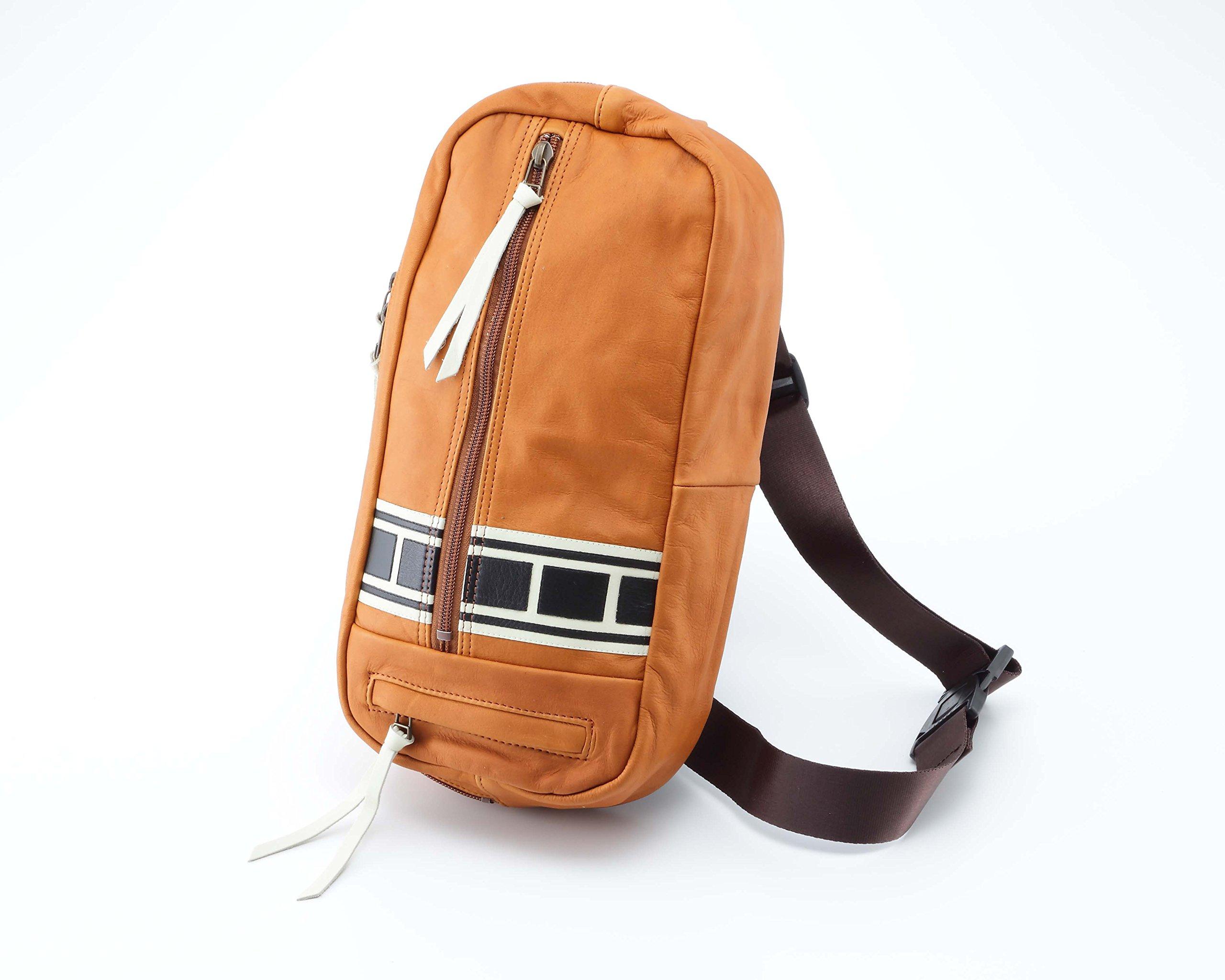 Yamaha Vintage strobe graphics 2WAY leather bag One Shoulder Square type leather 90792-V0010