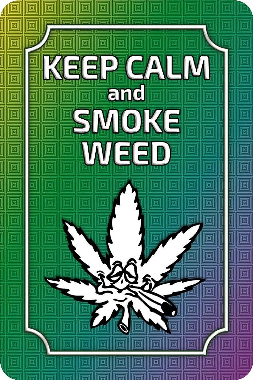 BlechschilderWelt Cartel de Chapa Keep Calm and Smoke Weed ...