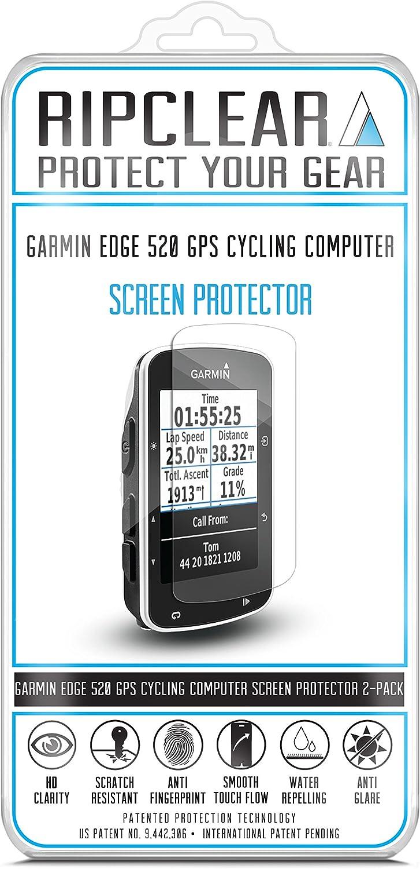 Ripclear Garmin Edge 520 Cycling Computer GPS Screen Protector Kit ...