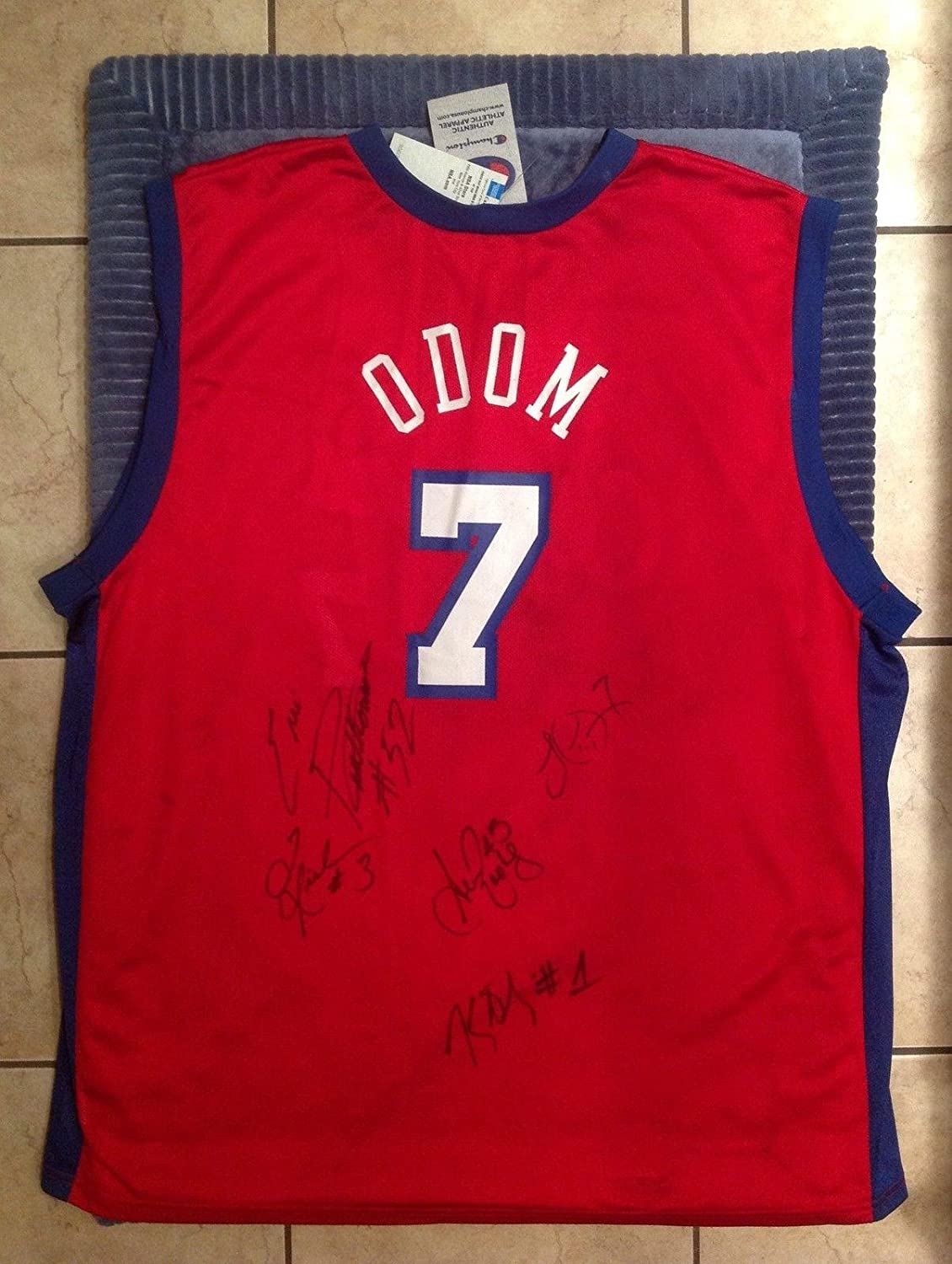 Amazon.com  Lamar Odom 2002-03 team signed Los Angeles clippers jersey -  100% authentic ! - Autographed NBA Jerseys  Sports Collectibles fc2fc4b6f
