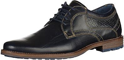 Mustang - Zapatos de Cordones para Hombre Azul Azul Marino 41