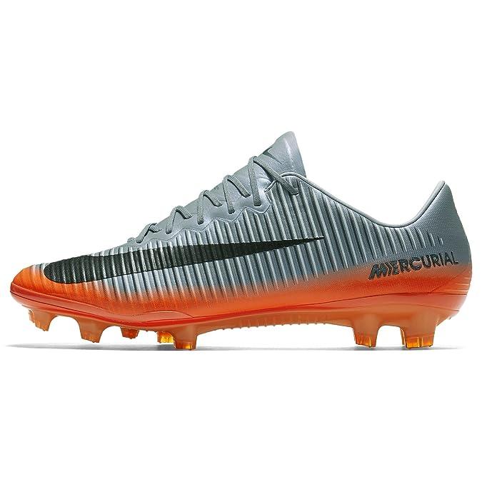 Nike Mercurial Vapor XI CR 7 FG, Zapatillas de Fútbol para Hombre, Gris Grau, 38.5 EU: Amazon.es: Zapatos y complementos