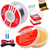 Solder Wire and Rosin Paste Flux Kit - 60-40 Tin Lead Rosin Core Solder Wire (0.6mm, 50g) and Rosin Paste Flux (50g) for…