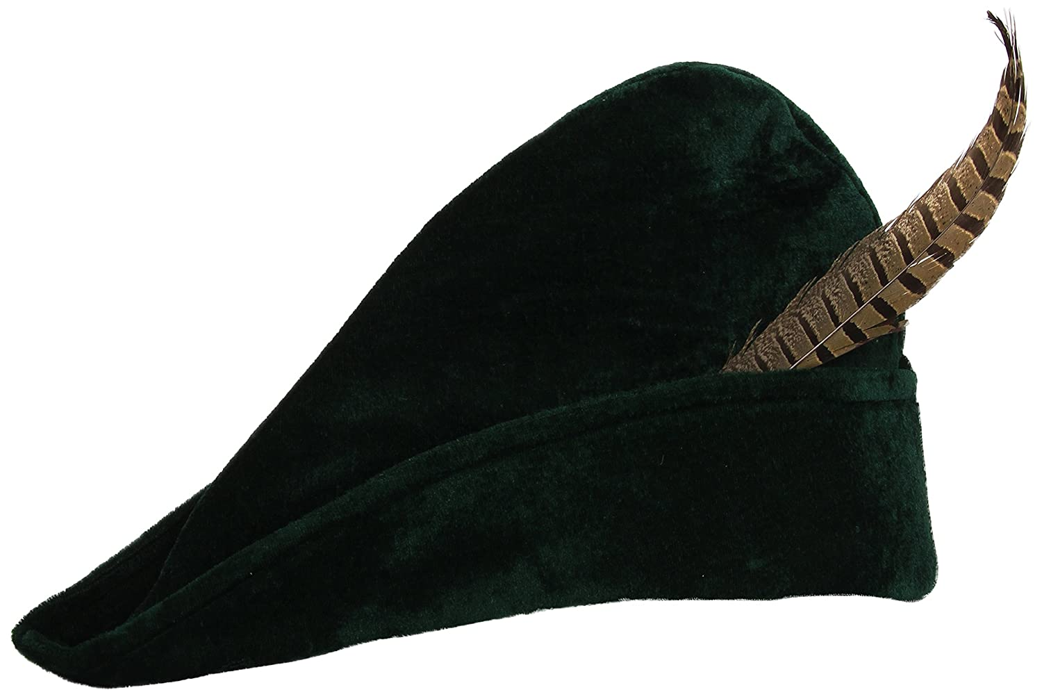 Adult Medieval Green Archer Hat - DeluxeAdultCostumes.com