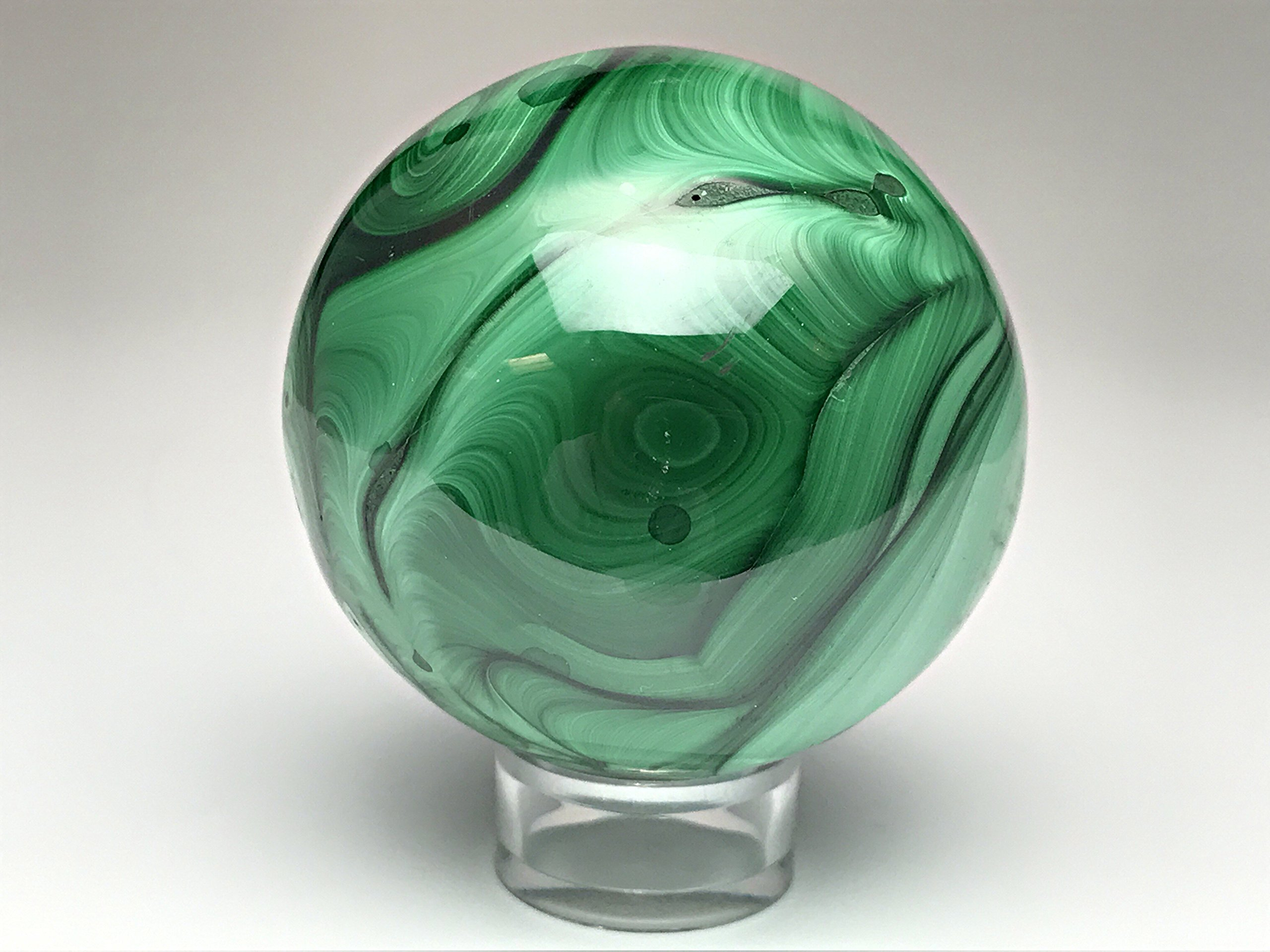 Astro Gallery Of Gems Polished Malachite Sphere - 386 Grams
