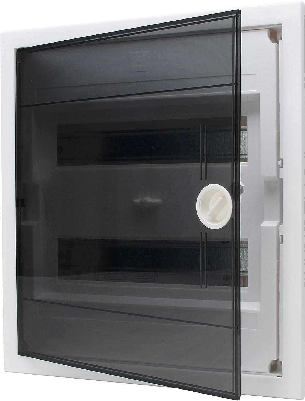 Kopp rasante–Caja de distribución con Puerta de plástico de 2Filas, para 24Pole, 1Pieza, Gris/Negro, 346002005