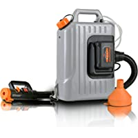 SuperHandy Fogger Machine Disinfectant Atomizer with 48V DC Lithium Ion Cordless Mist Duster Blower ULV Sprayer 2.6GAL 1-10GPH Adjustable Particle Size 0-50μm/Mm