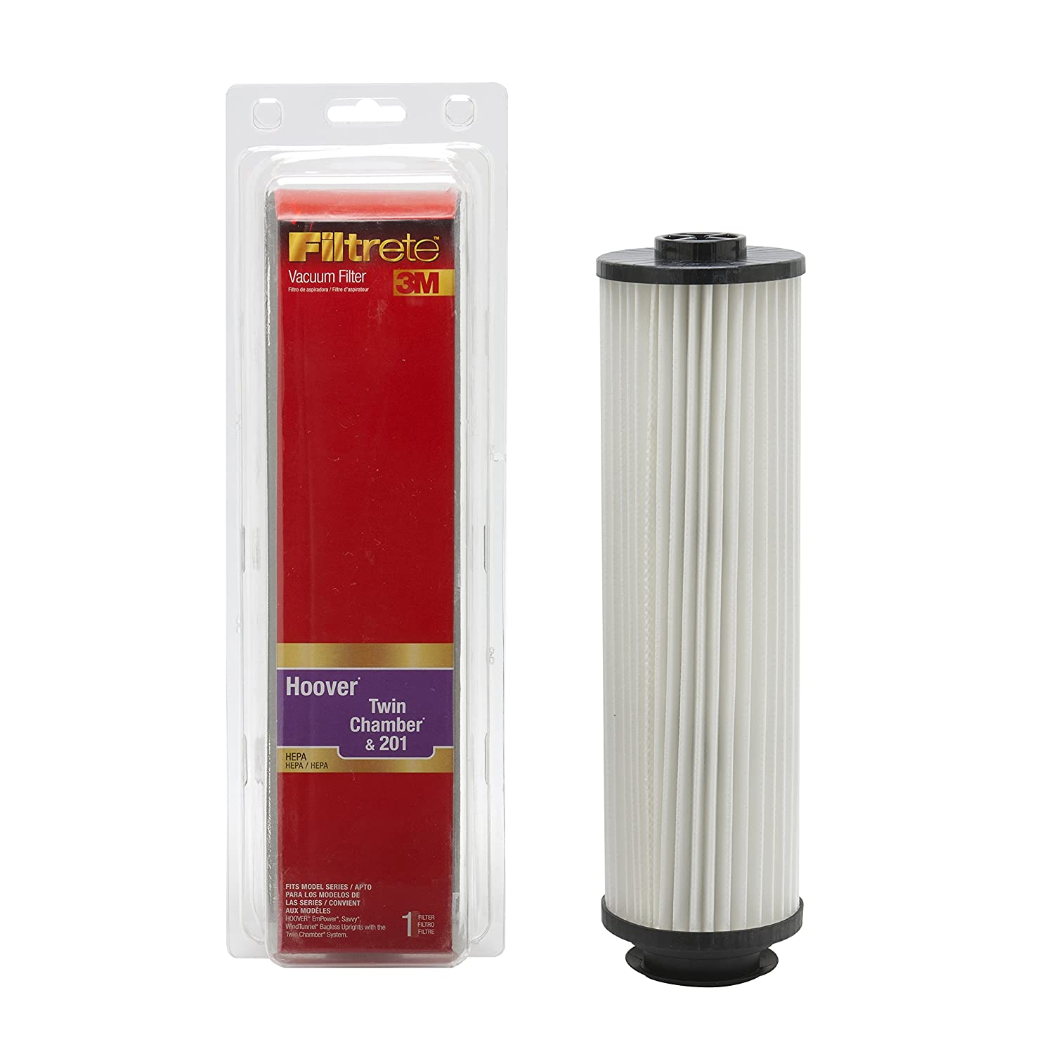 Amazon.com: 3M Filtrete Hoover Twin Chamber & 201 HEPA Vacuum Filter: Home & Kitchen