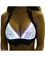 HolyThreads! Women's White Fiber Optic Halter Top - EDMPlug - Lights Up!