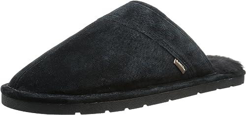 Scuff Slipper - Suede Shoe, Black