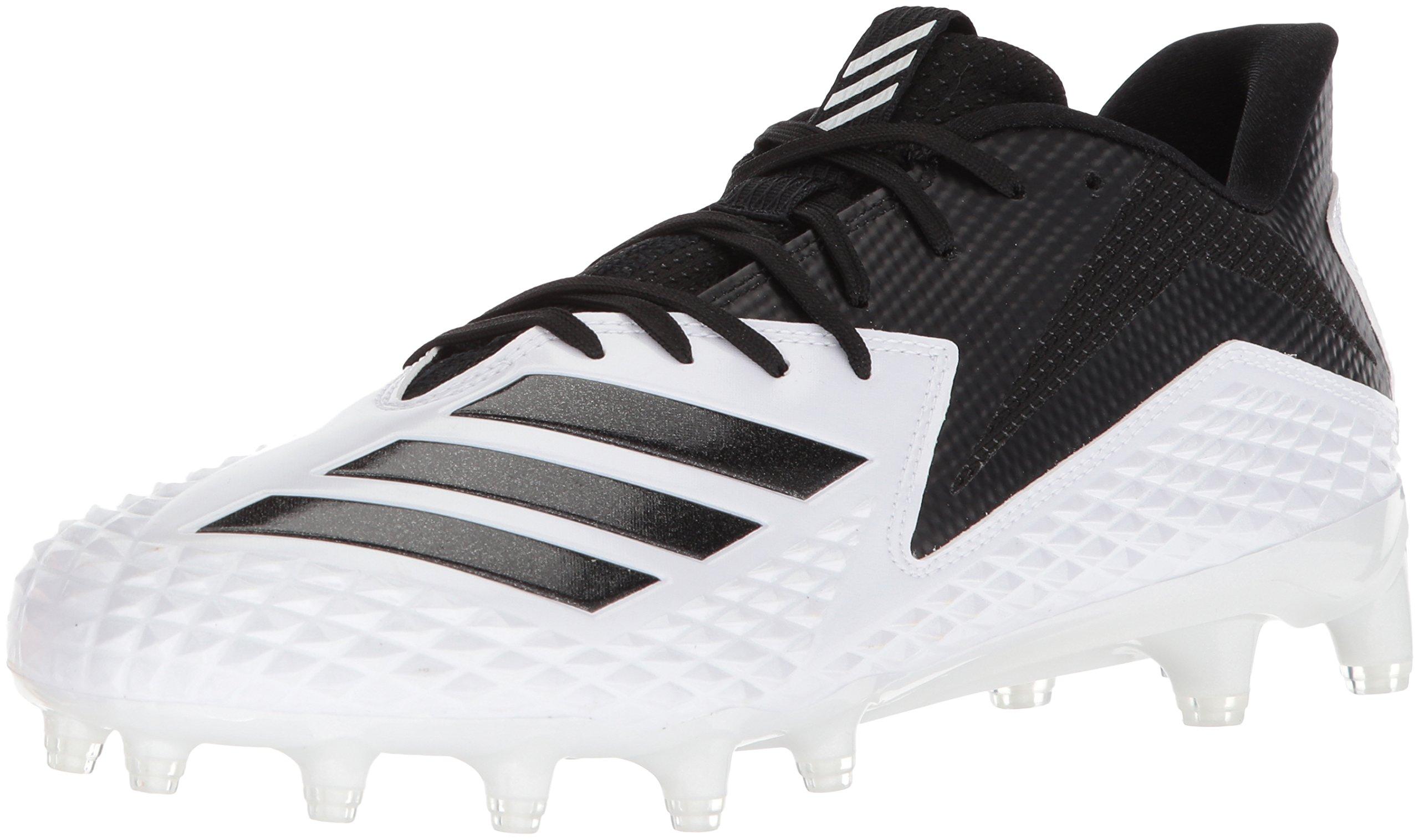 adidas Originals Men's Freak X Carbon Mid Football Shoe, White/Black/Black, 8 M US