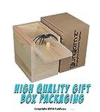 FunFamz The Original Spider Prank Box- Funny Wooden Box Toy Prank, Hilarious Christmas Money Gift Box Surprise Toy and Gag Gift Practical Joke Bromas Kit