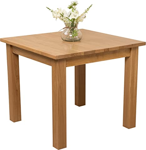 Oak Furniture King Esstisch Oslo Eiche Massiv Quadratisch 90 X 90 Cm Amazon De Kuche Haushalt