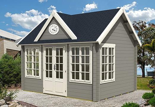 Alpholz – Casa de jardín Clockhouse-44 Royal ISO de madera maciza para herramientas con 44 mm