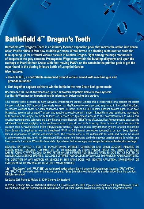 Battlefield 4: Dragon's Teeth [Online Game Code]: Amazon co
