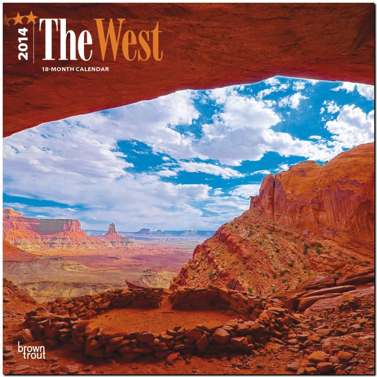 The West 2014 - Der Westen der USA: Original BrownTrout-Kalender [Mehrsprachig] [Kalender]